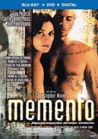 Memento 2000 BRRip 800Mb Hindi Dual Audio 720p