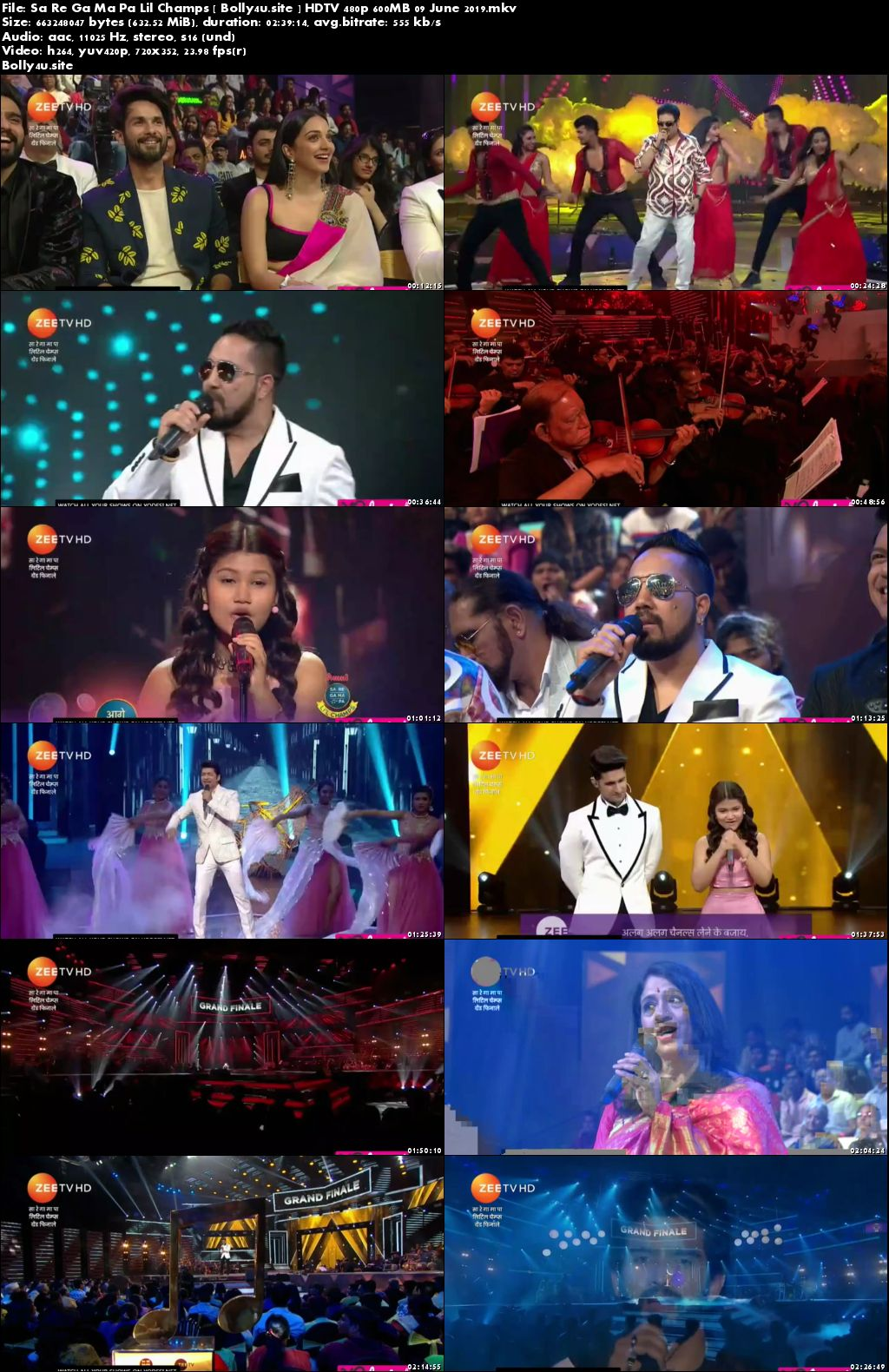 Sa Re Ga Ma Pa Lil Champs HDTV 480p 600MB 09 June 2019 Download