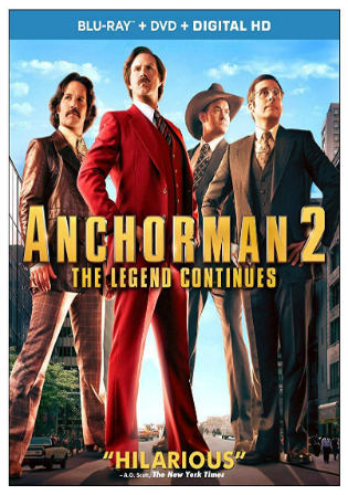 Anchorman 2 The Legend Continues 2013 BRRip 1.1GB Hindi Dual Audio 720p