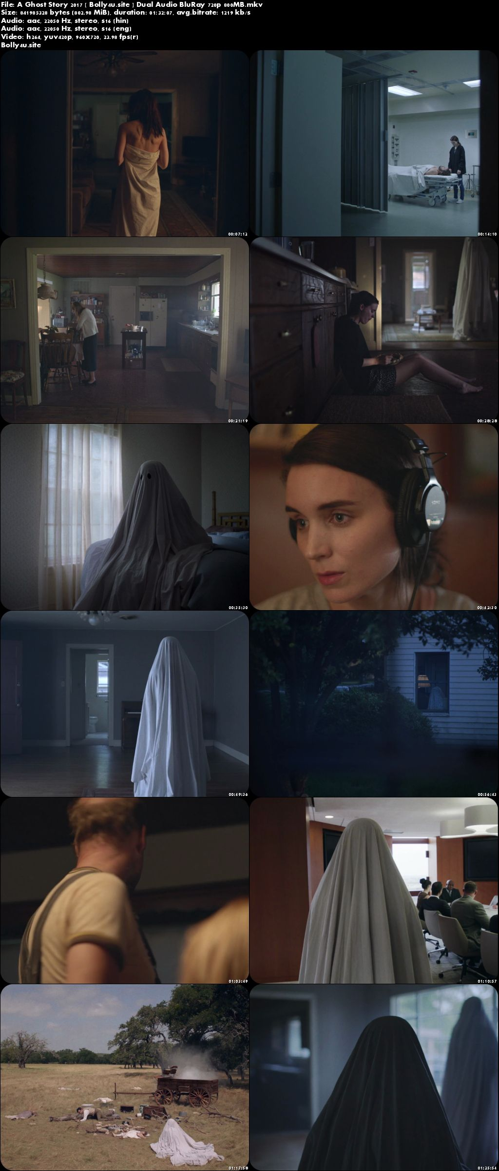 A Ghost Story 2017 BluRay 800MB Hindi Dual Audio 720p Download