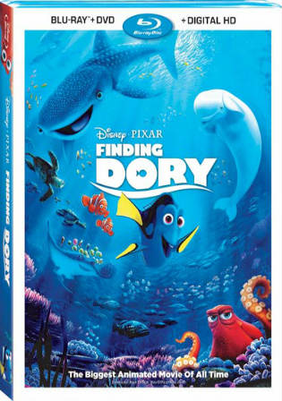 Finding Dory 2016 BRRip 300Mb Hindi Dual Audio ORG 480p Watch Online Full Movie Download bolly4u