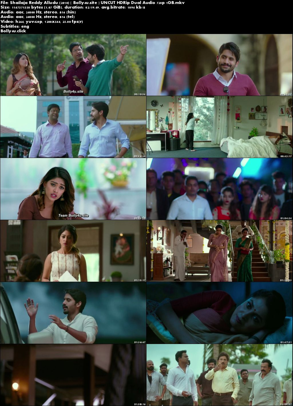 Shailaja Reddy Alludu 2018 HDRip 400MB UNCUT Hindi Dual Audio 480p Download