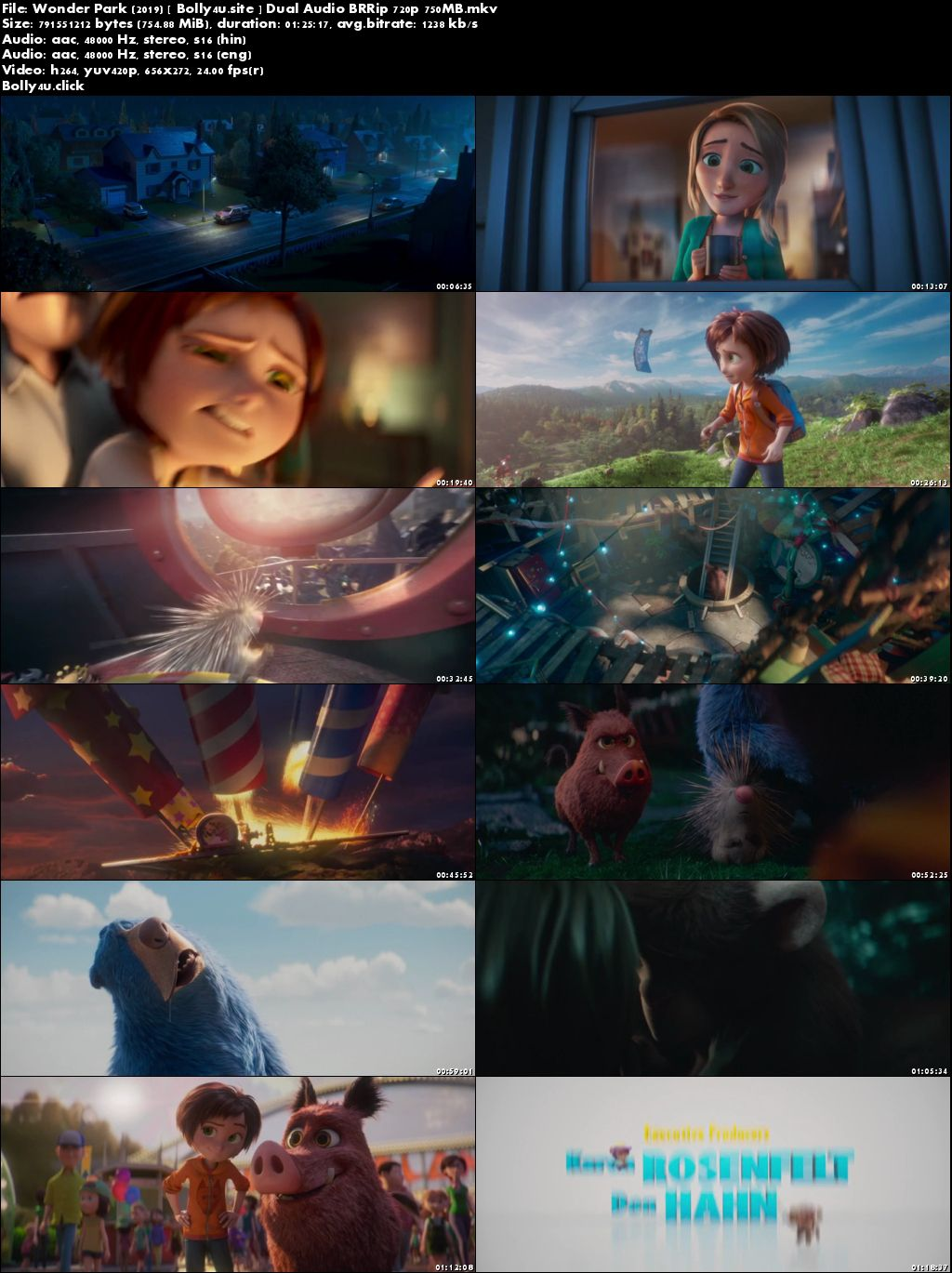 Wonder Park 2019 BRRip 300Mb Hindi Dual Audio ORG 480p Download
