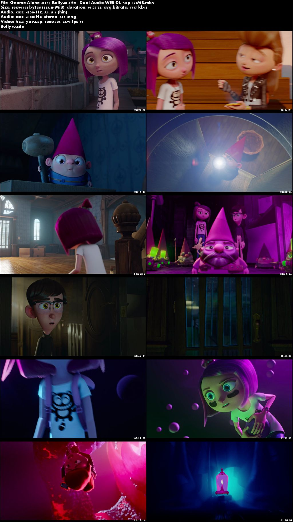 Gnome Alone 2017 WEB-DL 280Mb Hindi Dual Audio 480p Download