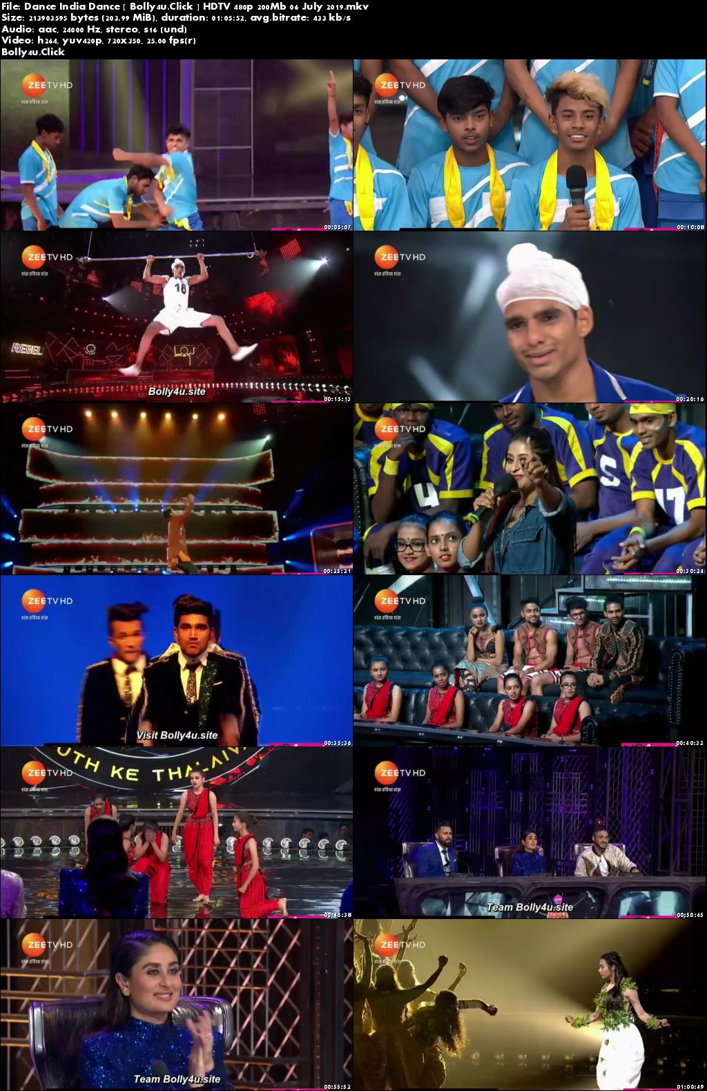 Dance India Dance HDTV 480p 200Mb 06 July 2019 Download