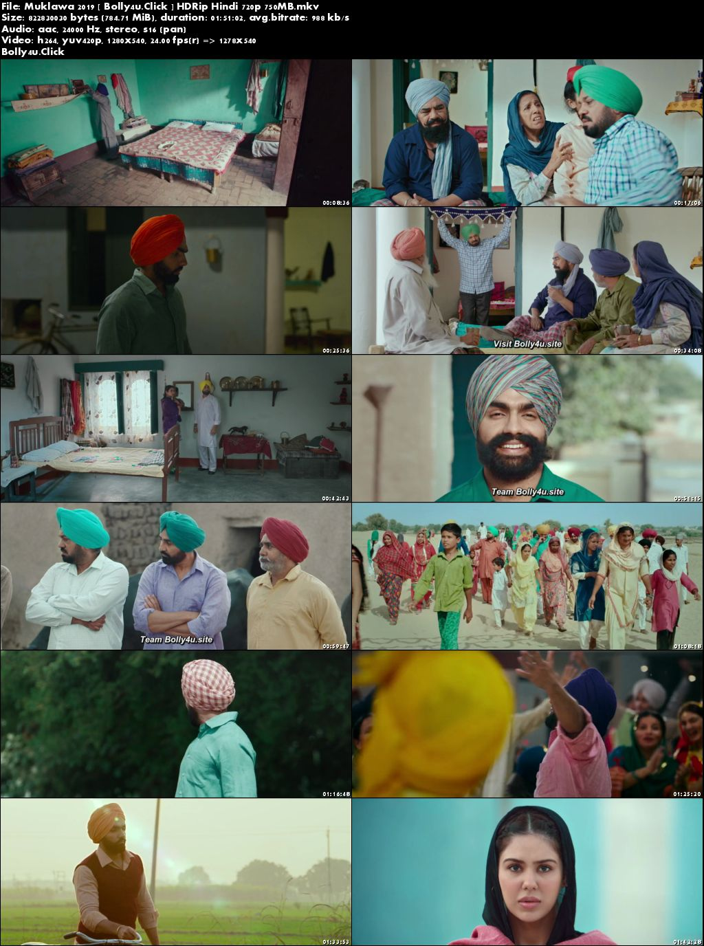 Muklawa 2019 HDRip 800Mb Punjabi 720p Download