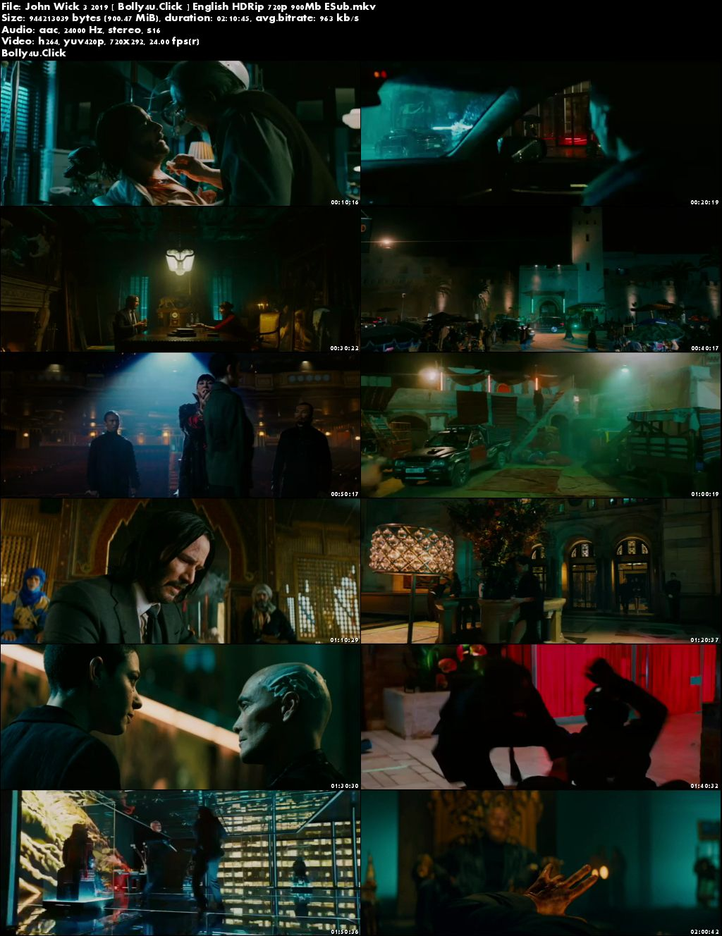 John Wick Chapter 3 Parabellum 2019 HDRip 300MB English 480p Download