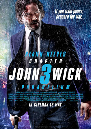 John Wick Chapter 3 Parabellum 2019 HDRip 300MB English 480p