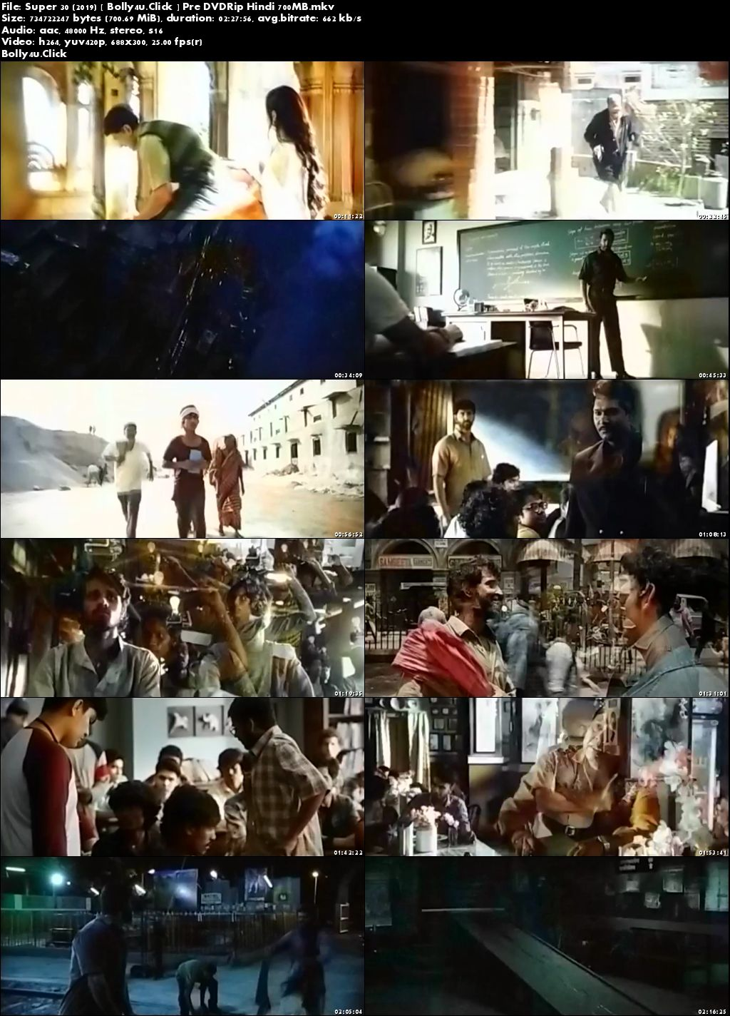 Super 30 (2019) Pre DVDRip 700Mb Full Hindi Movie Download x264