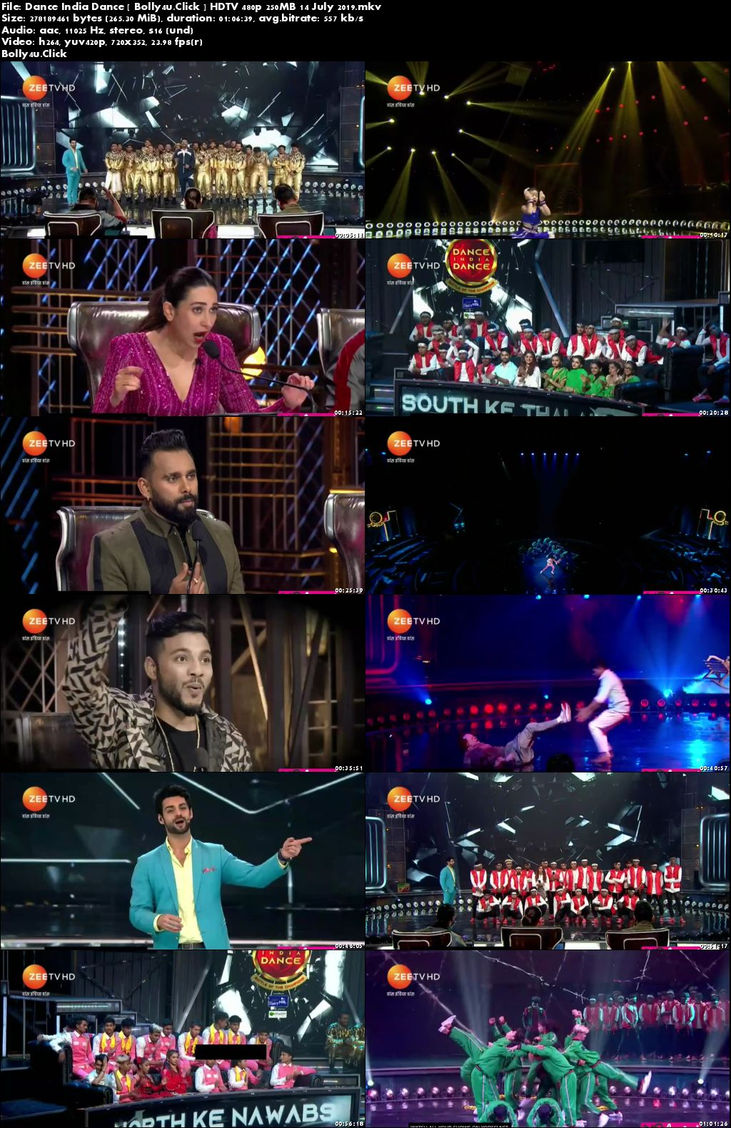 Dance India Dance HDTV 480p 250MB 14 July 2019 Download