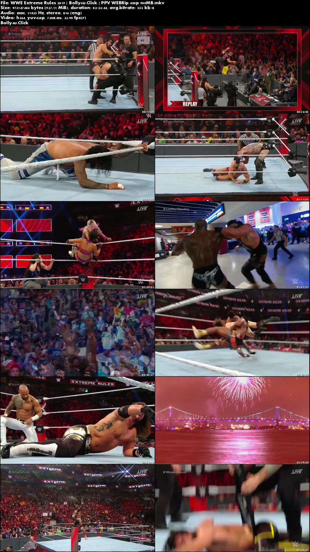 WWE Extreme Rules 2019 PPV 480p 900Mb WEBRip Download