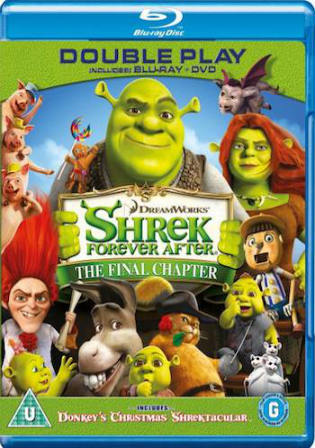 Shrek Forever After 2010 BRRip 400MB Hindi Dual Audio 480p Watch Online Free Download bolly4u