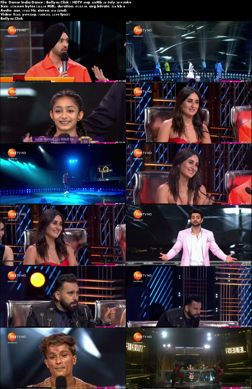 Dance India Dance HDTV 480p 250Mb 20 July 2019 download