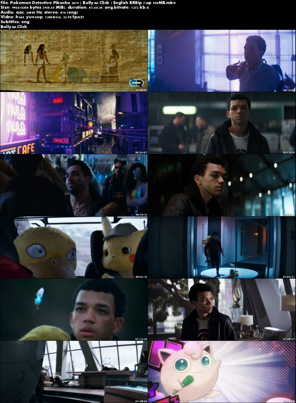 Pokemon Detective Pikachu 2019 BRRip 950Mb English 720p ESub Download