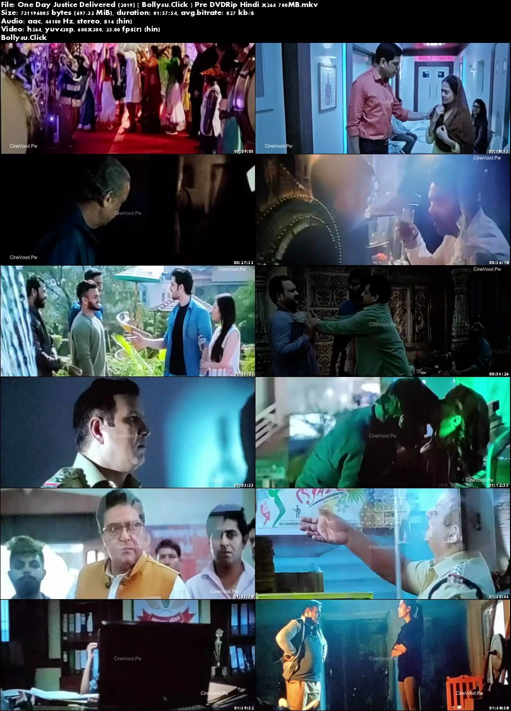 One Day Justice Delivered 2019 Pre DVDRip 300MB Hindi 480p Download