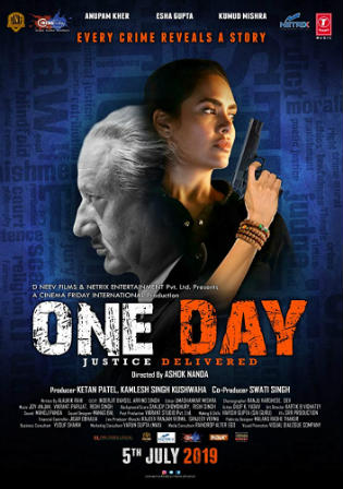 One Day Justice Delivered 2019 Pre DVDRip 300MB Hindi 480p Watch Online Full Movie Download bolly4u
