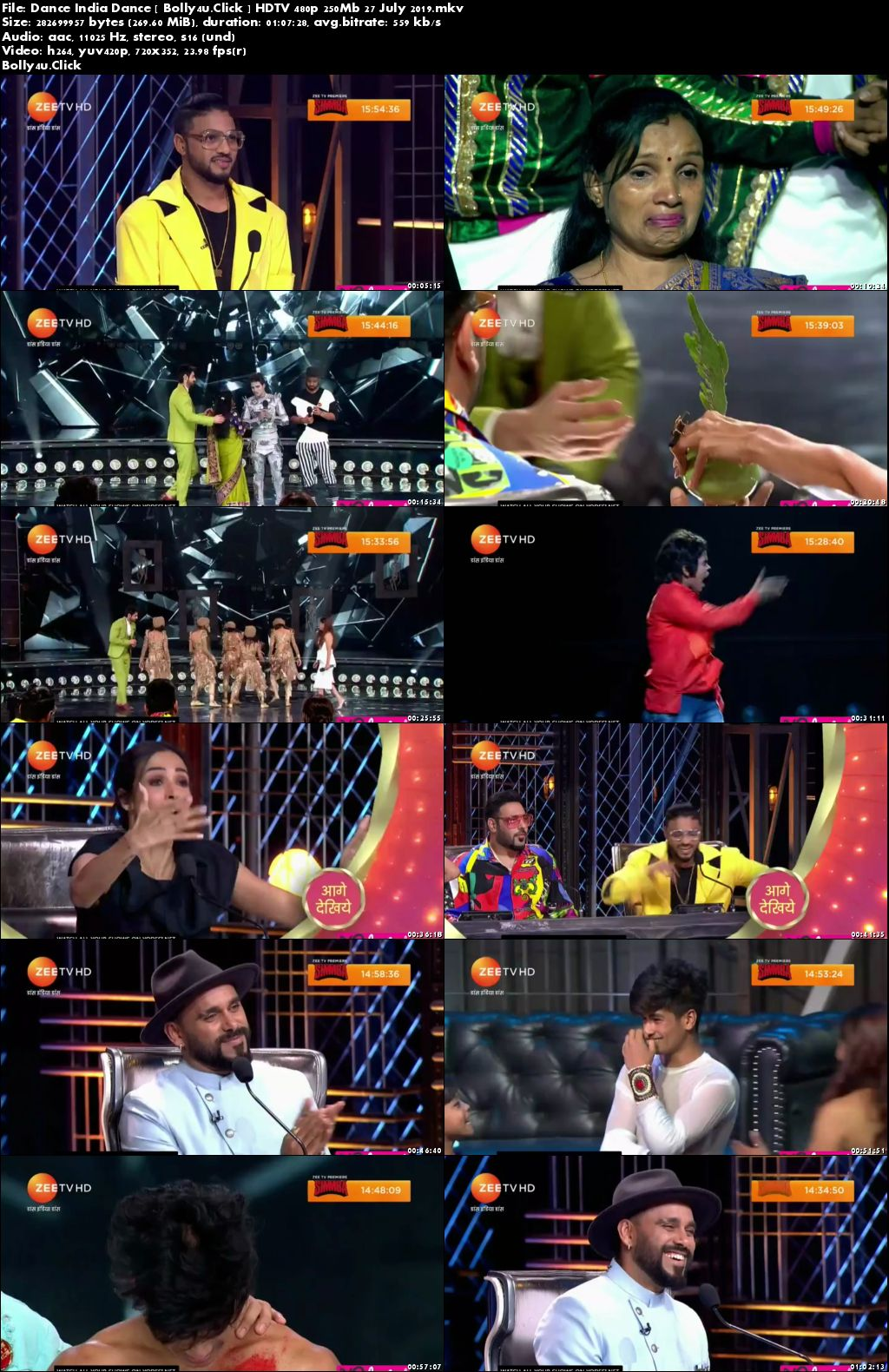 Dance India Dance HDTV 480p 250Mb 27 July 2019 Download