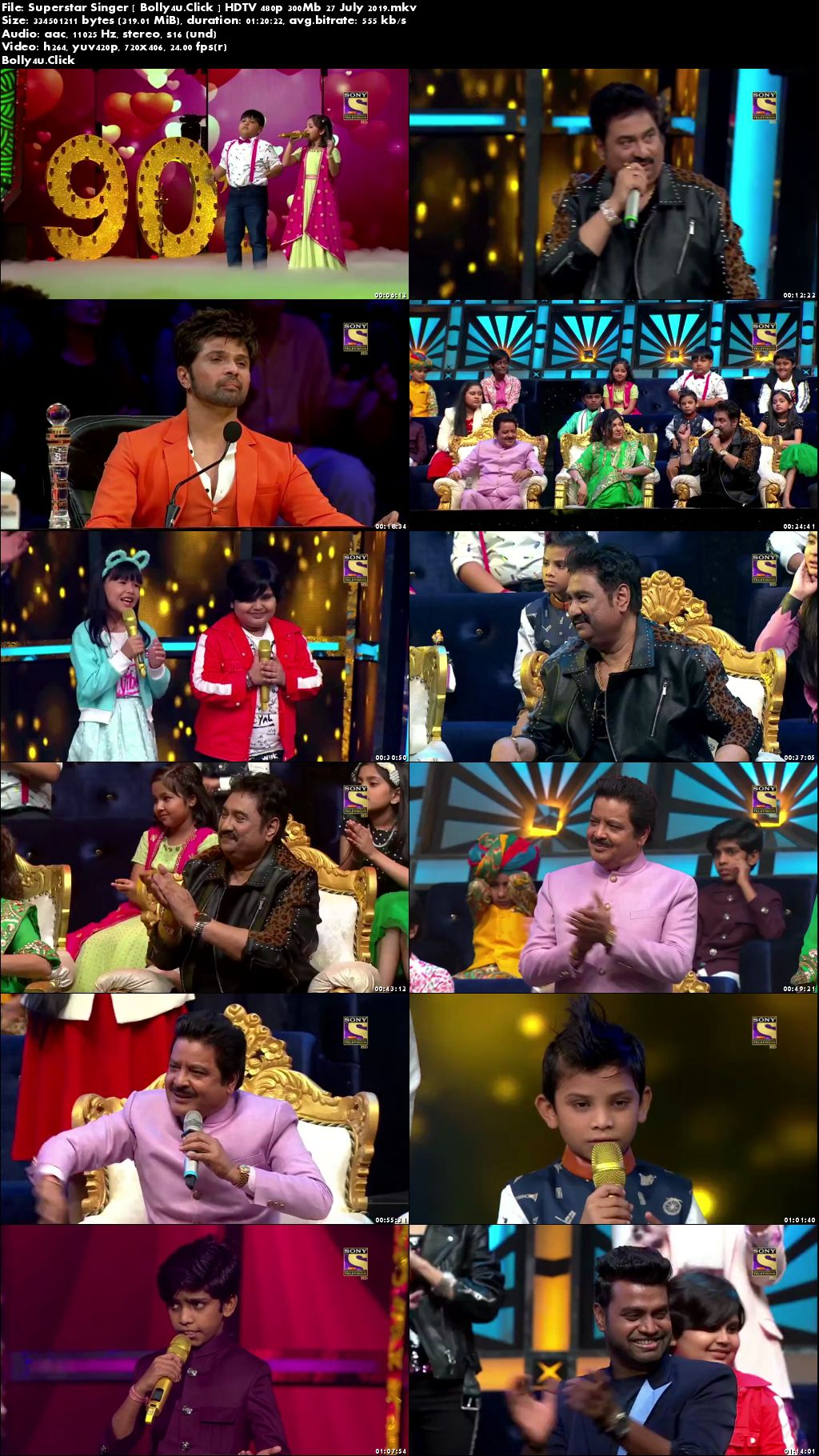 Superstar Singer HDTV 480p 300Mb 27 July 2019 Download