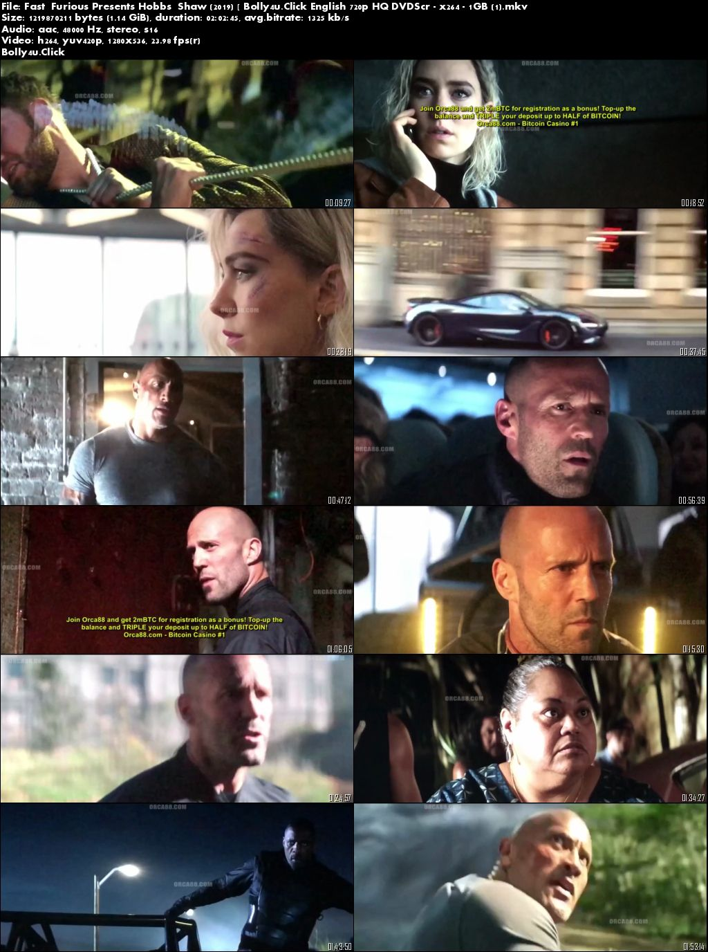 Hobbs And Shaw 2019 HDCAM 1GB English 720p Download