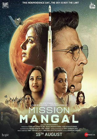Mission Mangal 2019 Pre DVDRip 300Mb Full Hindi Movie Download 480p