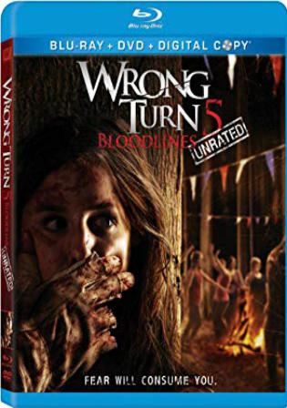 Wrong Turn 5 Bloodlines 2012 BRRip 300MB UNRATED English 480p