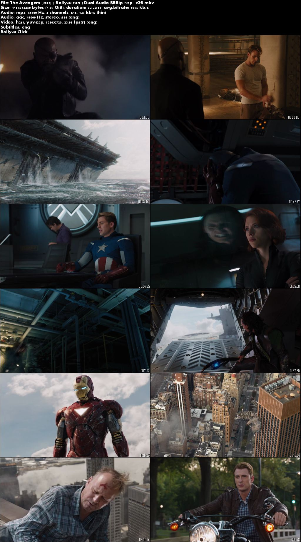 The Avengers 2012 BRRip 450MB Hindi Dual Audio 480p Download