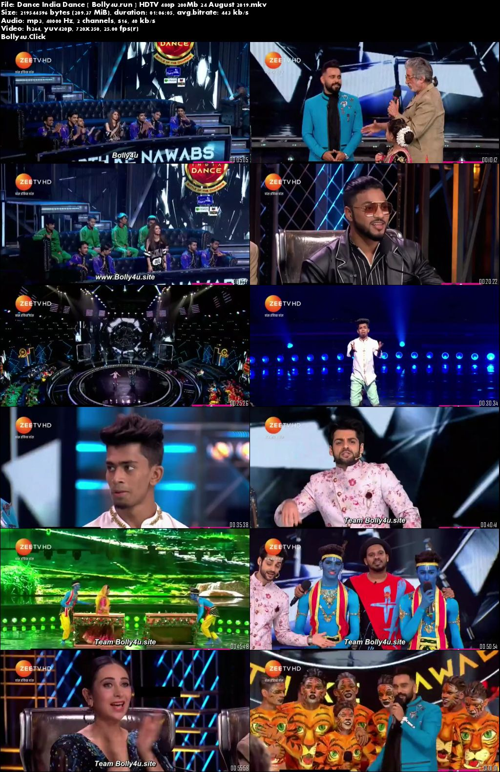 Dance India Dance HDTV 480p 200Mb 24 August 2019 Download