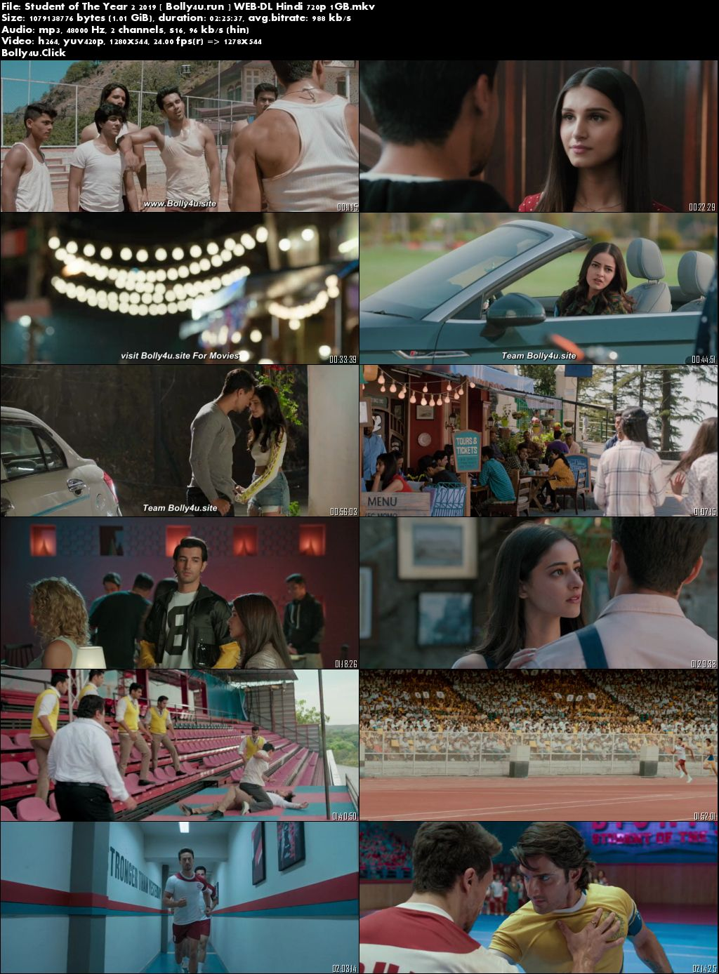 Student of The Year 2 2019 WEB-DL 400Mb Full Hindi Movie Download 480p