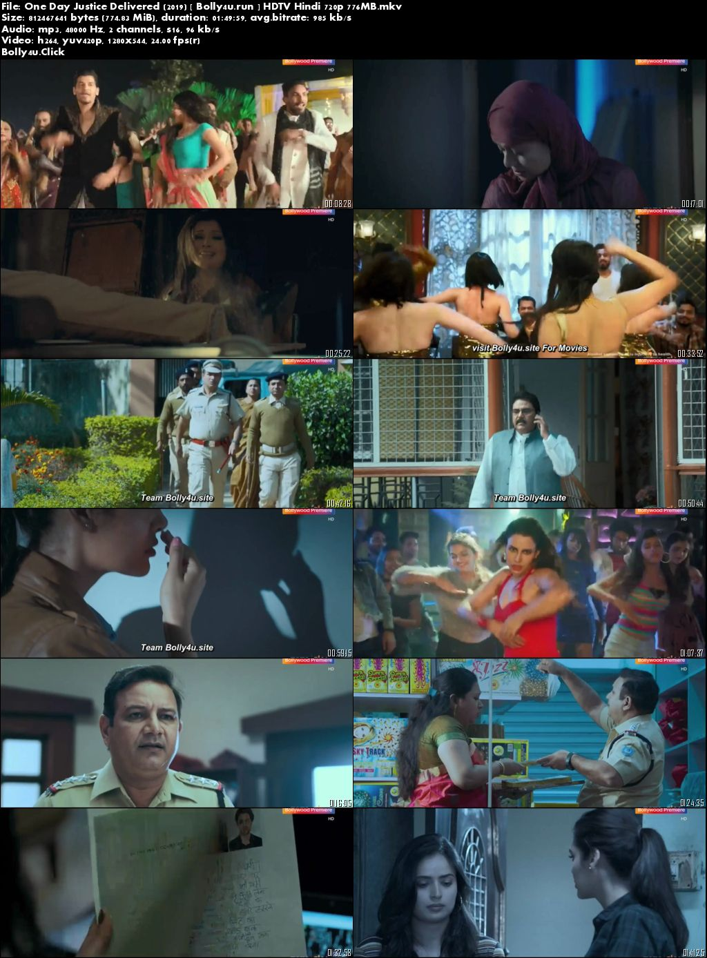 One Day Justice Delivered 2019 HDTV 750MB Hindi Movie Download 720p