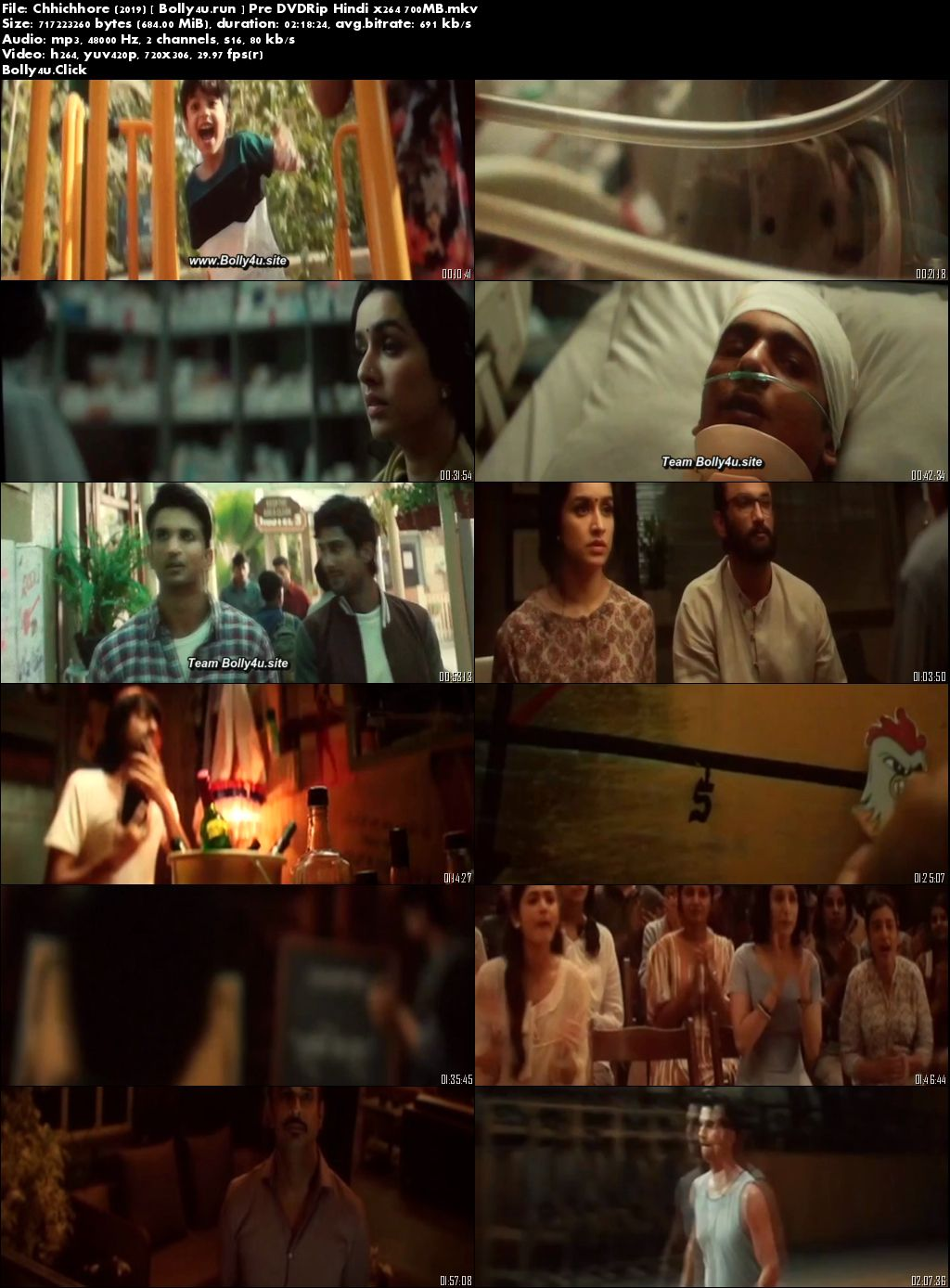 Chhichhore 2019 Pre DVDRip 400Mb Full Hindi Movie Download 480p