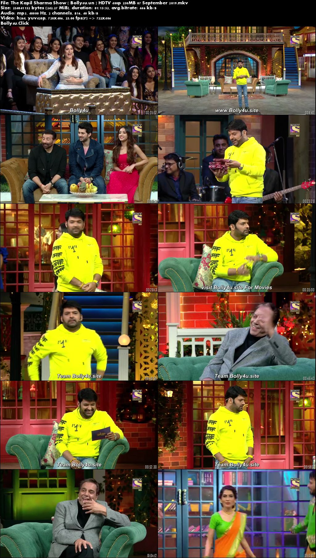 The Kapil Sharma Show HDTV 480p 250MB 07 September 2019 Download