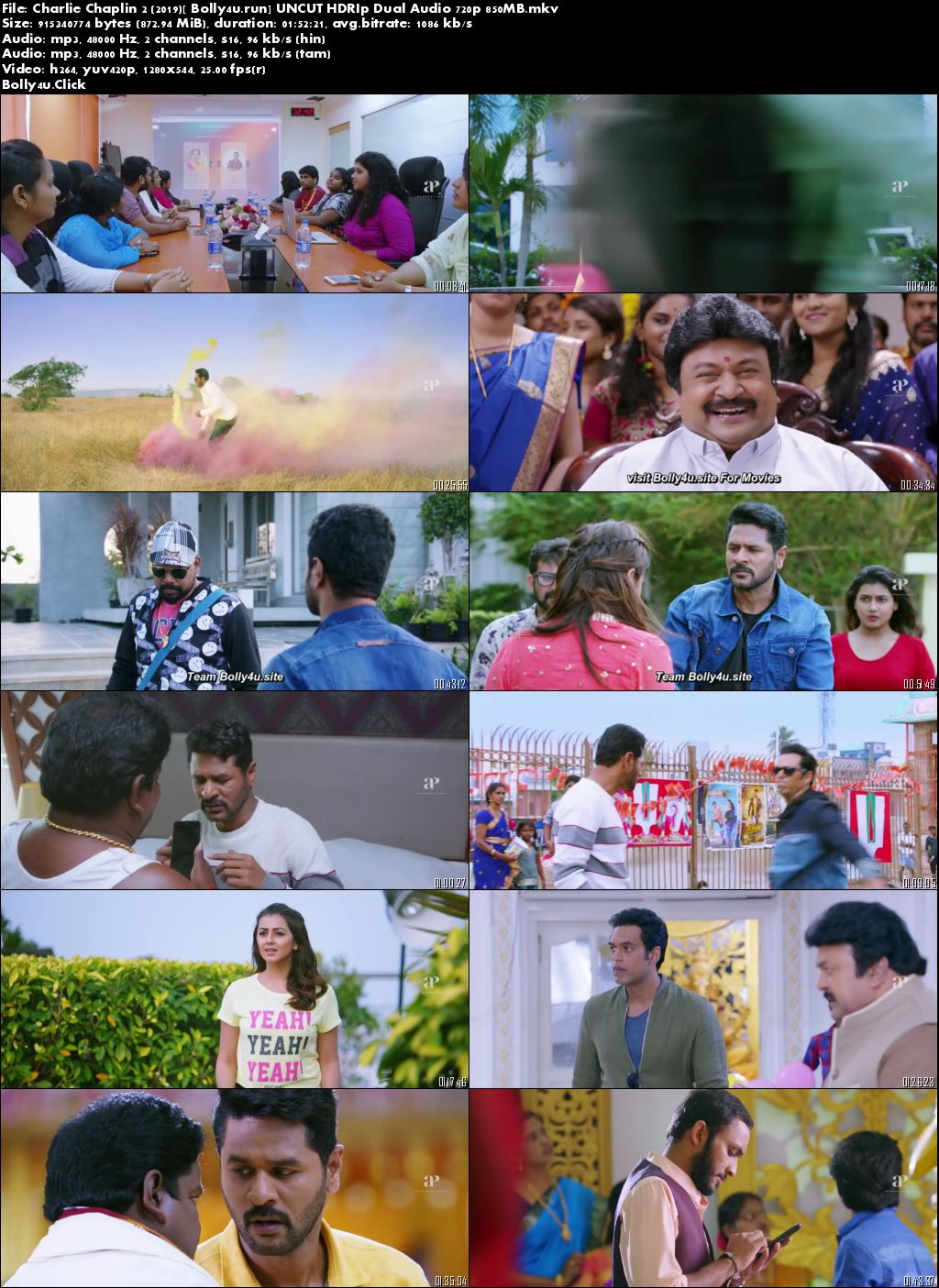 Charlie Chaplin 2 2019 HDRip 300MB UNCUT Hindi Dual Audio 480p Download