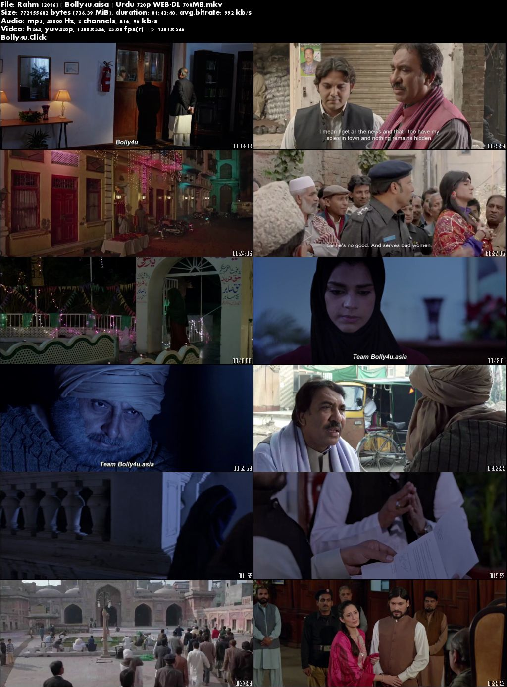 Rahm 2016 WEB-DL 700Mb Urdu 720p Download