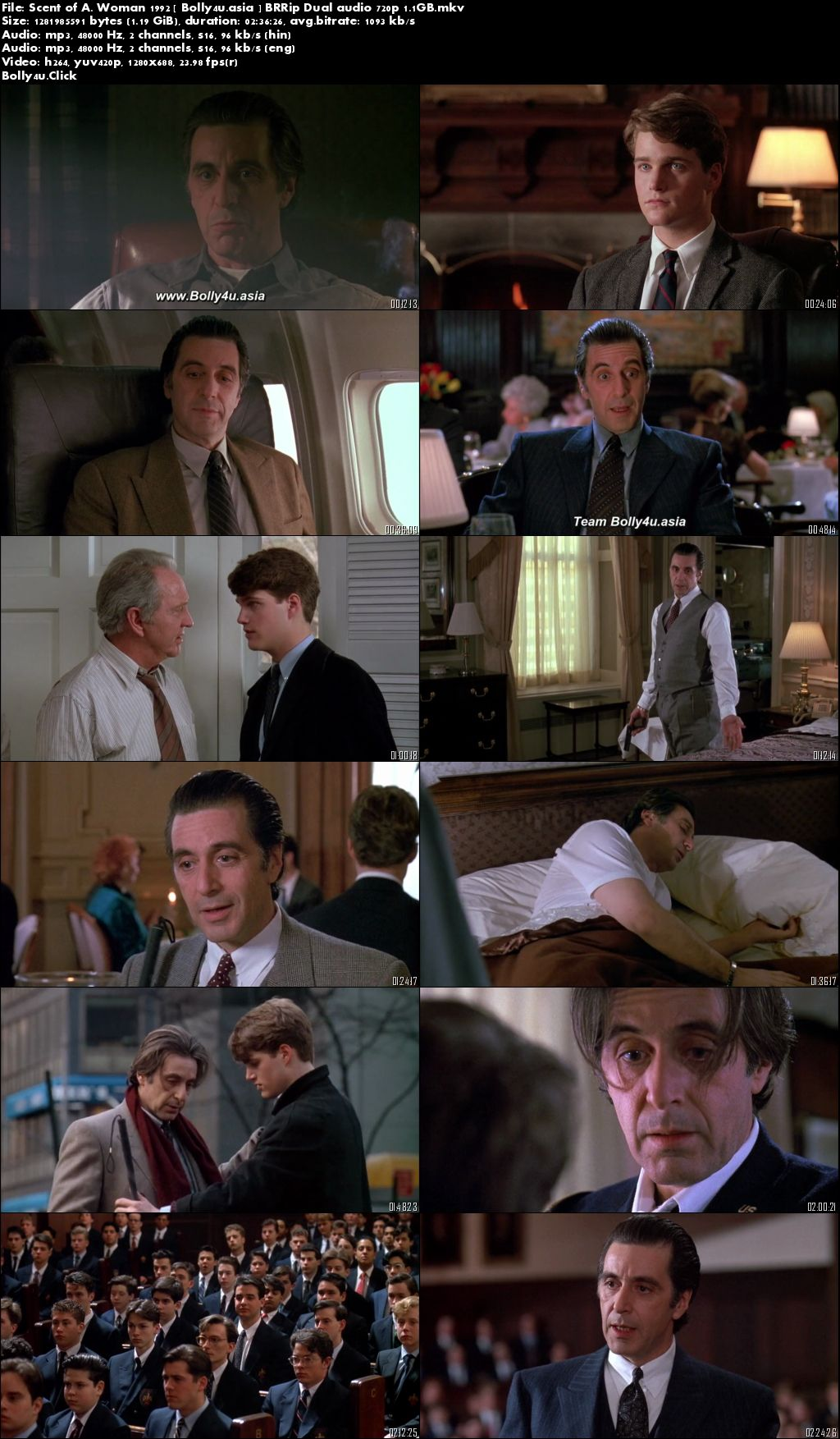 Scent of A Woman 1992 BRRip 500Mb Hindi Dual Audio 480p Download