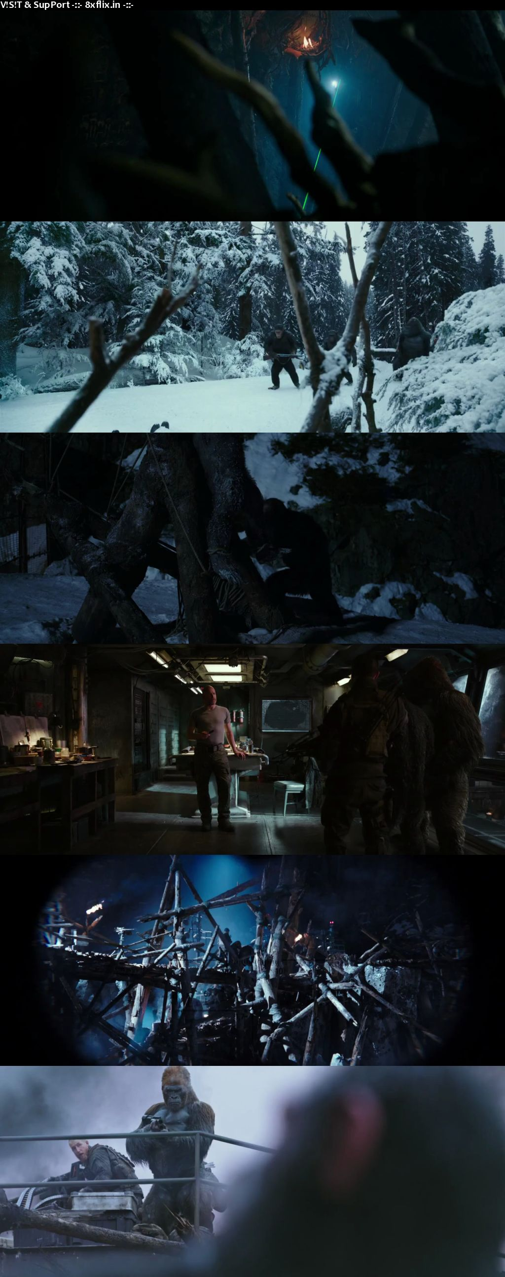 War for the Planet of the Apes 2017 Hindi Dual Audio 720p BluRay 1.1GB