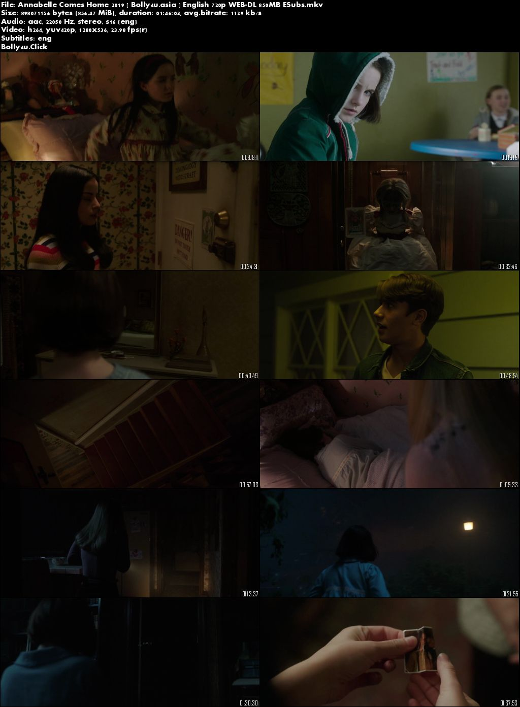 Annabelle Comes Home 2019 WEB-DL 300MB English 480p ESubs Download