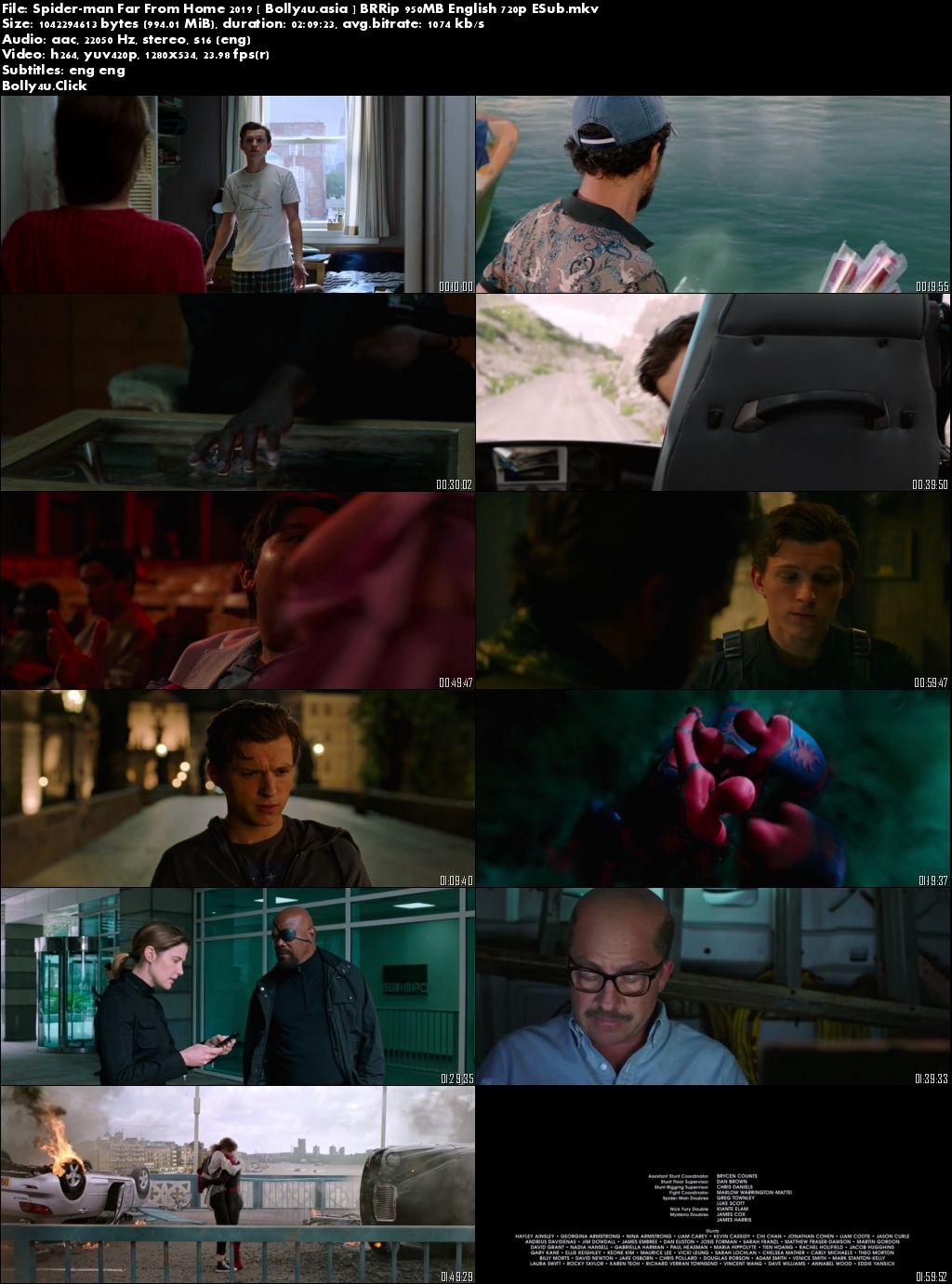Spider-man Far From Home 2019 BRRip 300Mb English 480p ESub Download