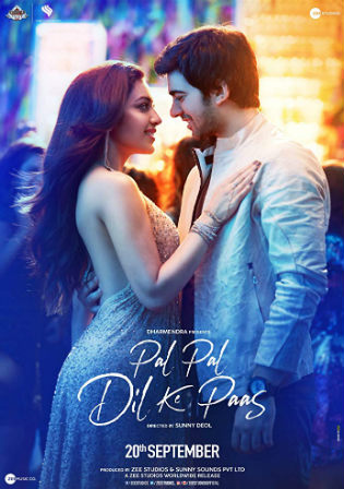 Pal Pal Dil Ke Paas 2019 300MB Movie Pre DvDRip Hindi 480p