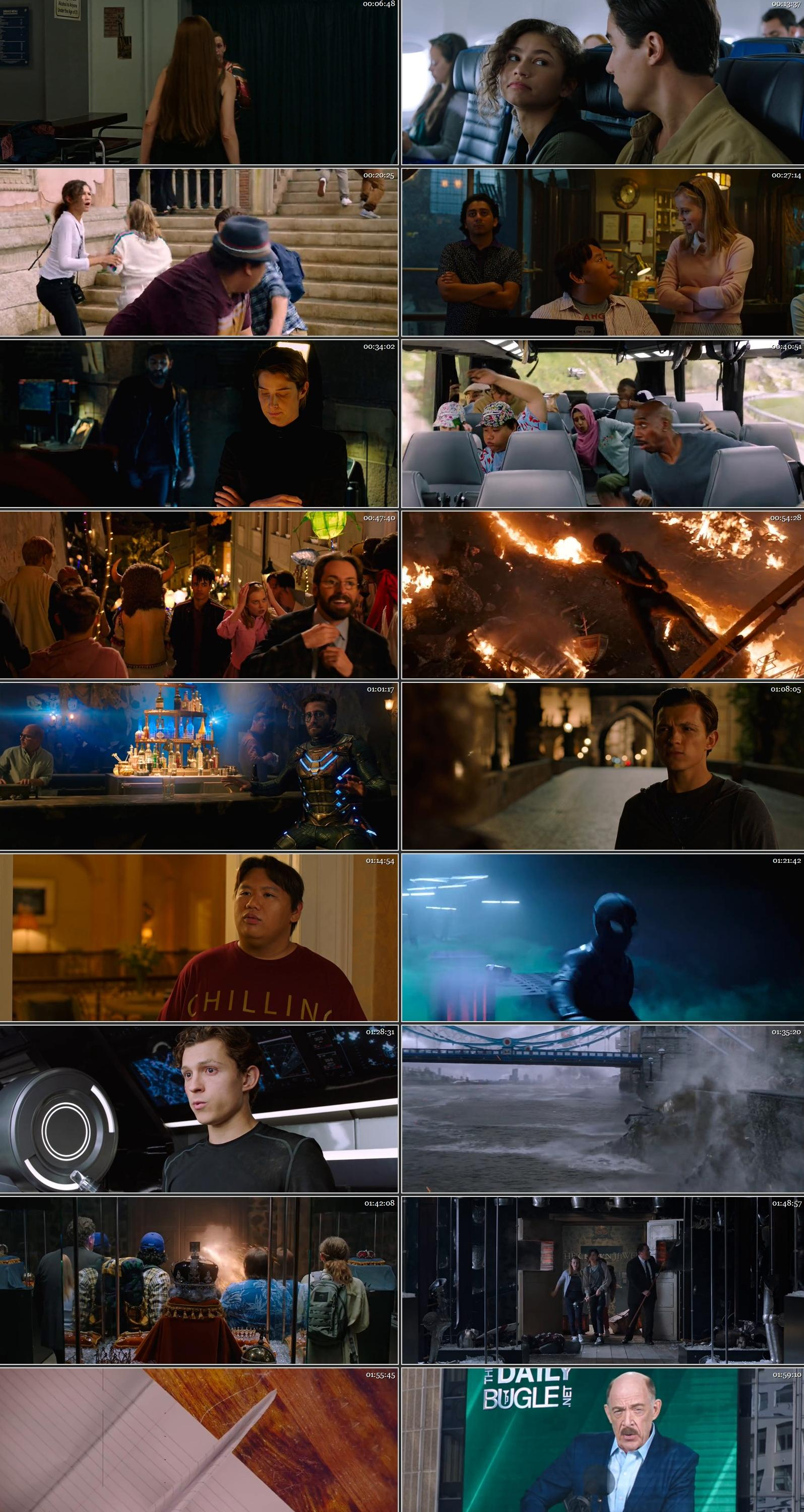 Spider Man Far from Home 2019 BRRip Hindi ORG Dual Audio