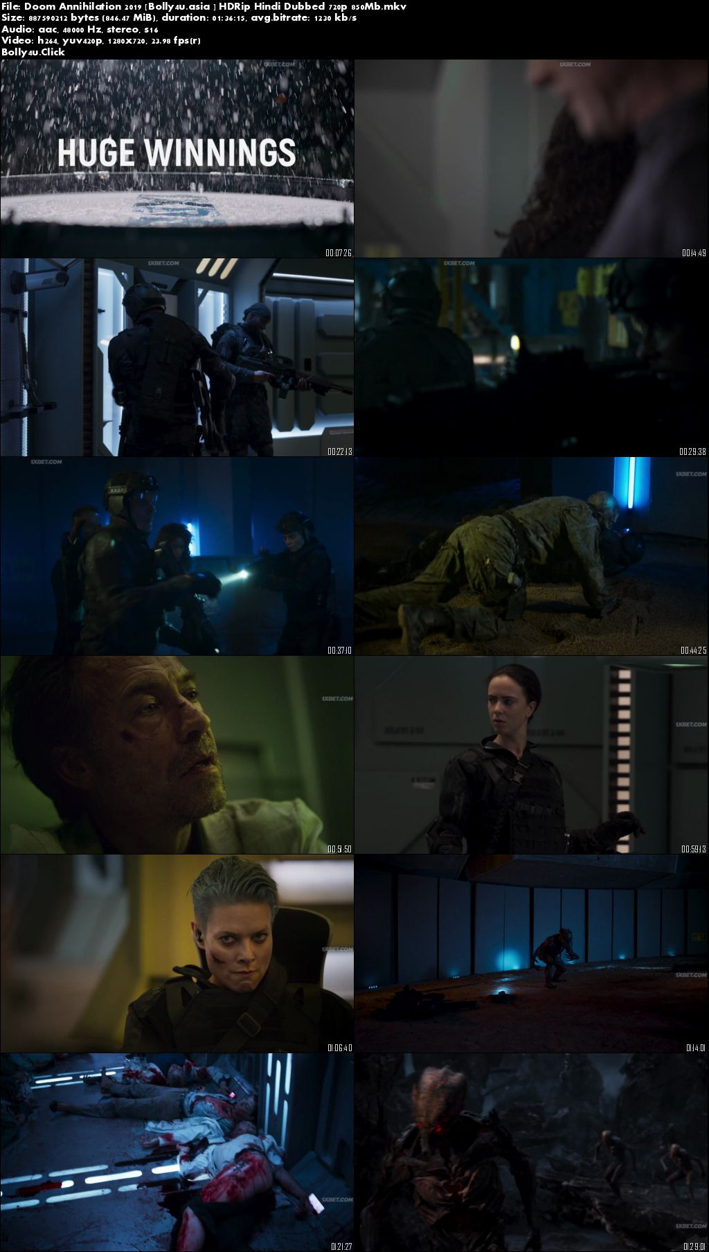 Doom Annihilation 2019 HDRip 850Mb Hindi Dubbed 720p Download