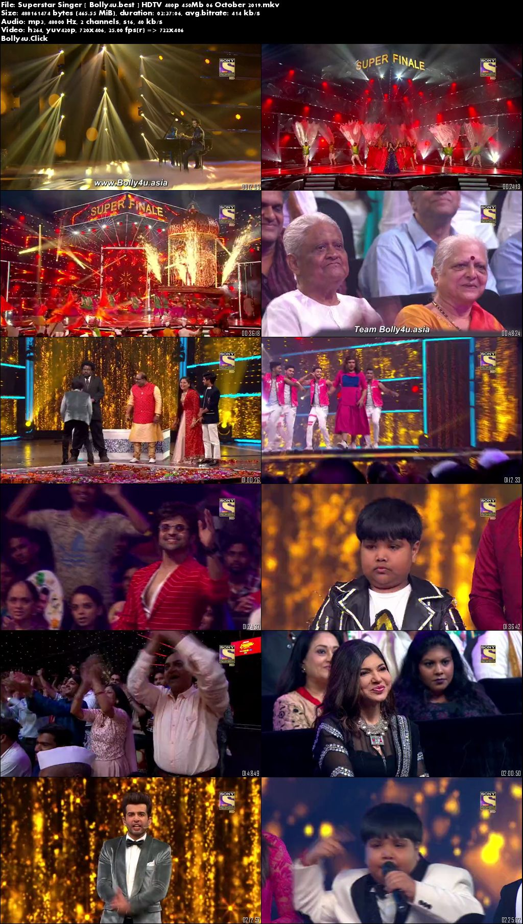 Superstar Singer HDTV 480p 450Mb Grand Finale 06 October 2019 Download