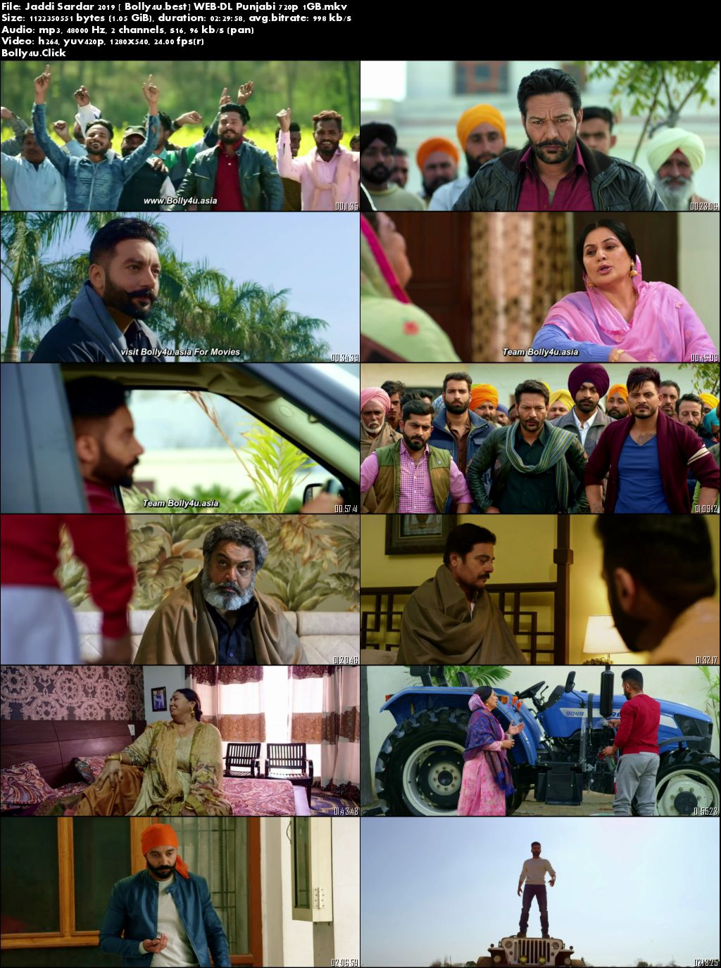 Jaddi Sardar 2019 WEB-DL 1GB Punjabi 720p Download