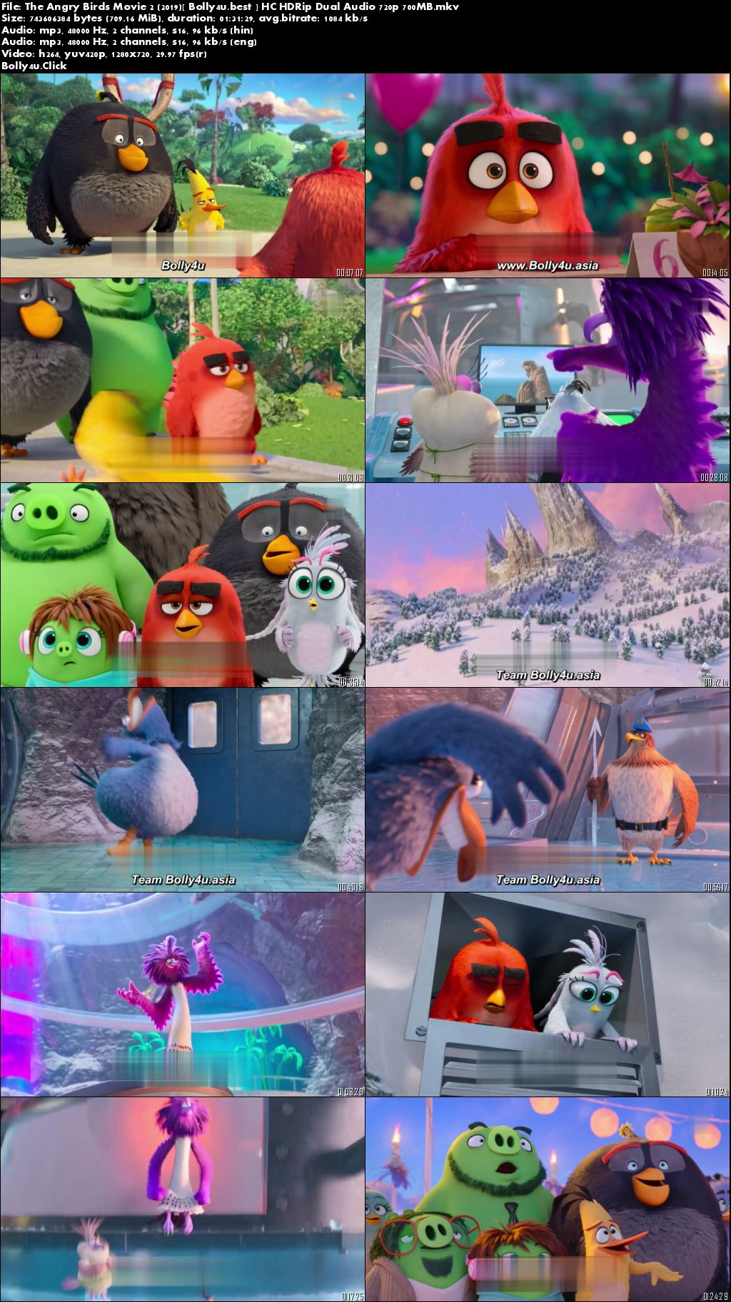 The Angry Birds Movie 2 2019 HC HDRip 700Mb Hindi Dual Audio 720p Download