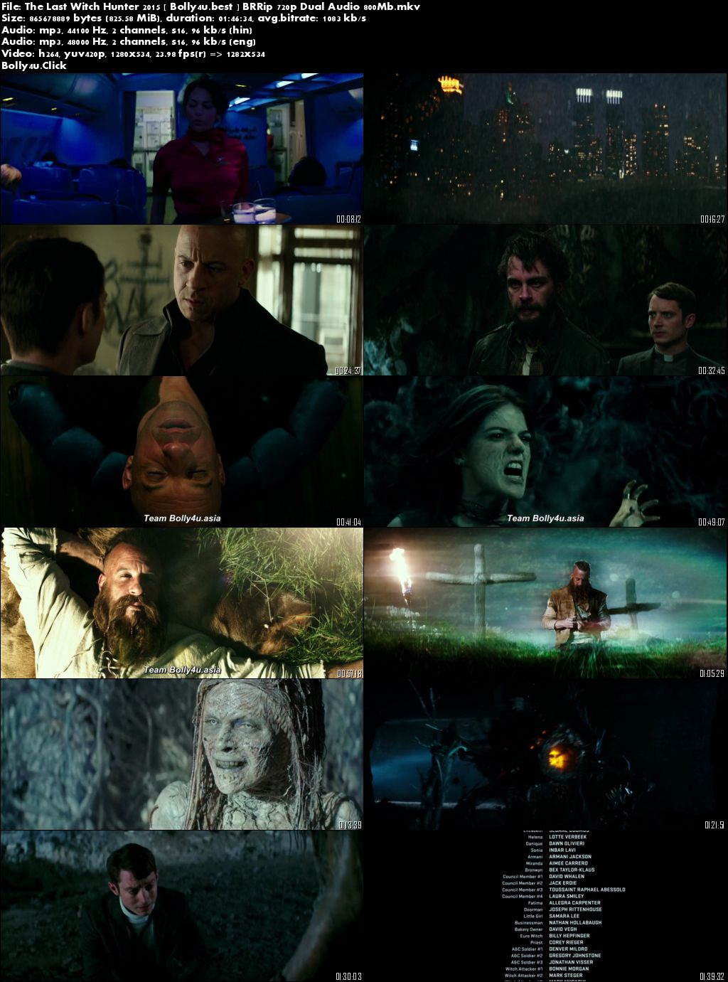 The Last Witch Hunter 2015 BluRay 300Mb Hindi Dual Audio 480p Download