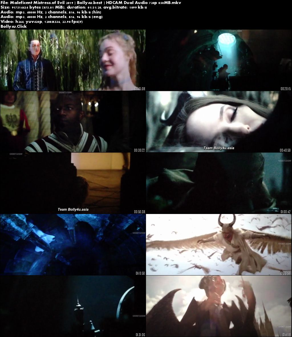 Maleficent Mistress of Evil 2019 HDCAM 300MB Hindi Dual Audio 480p Download
