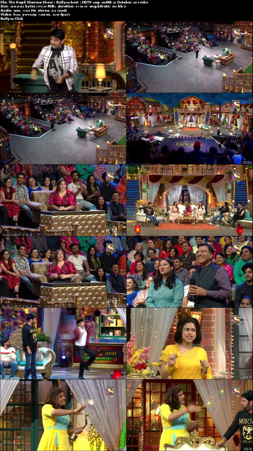 The Kapil Sharma Show HDTV 480p 200MB 20 October 2019 Download