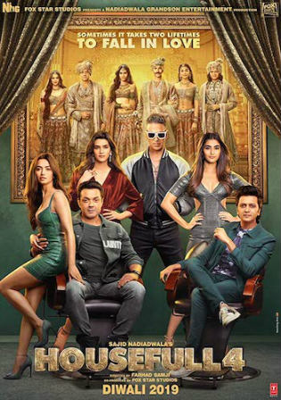 Housefull 4 2019 Pre DVDRip 1.1Gb Full Hindi Movie Download 720p Watch Online Free bolly4u
