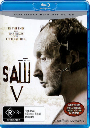 Saw V 2008 BluRay 800MB Hindi Dual Audio 720p Watch Online Full Movie Download bolly4u