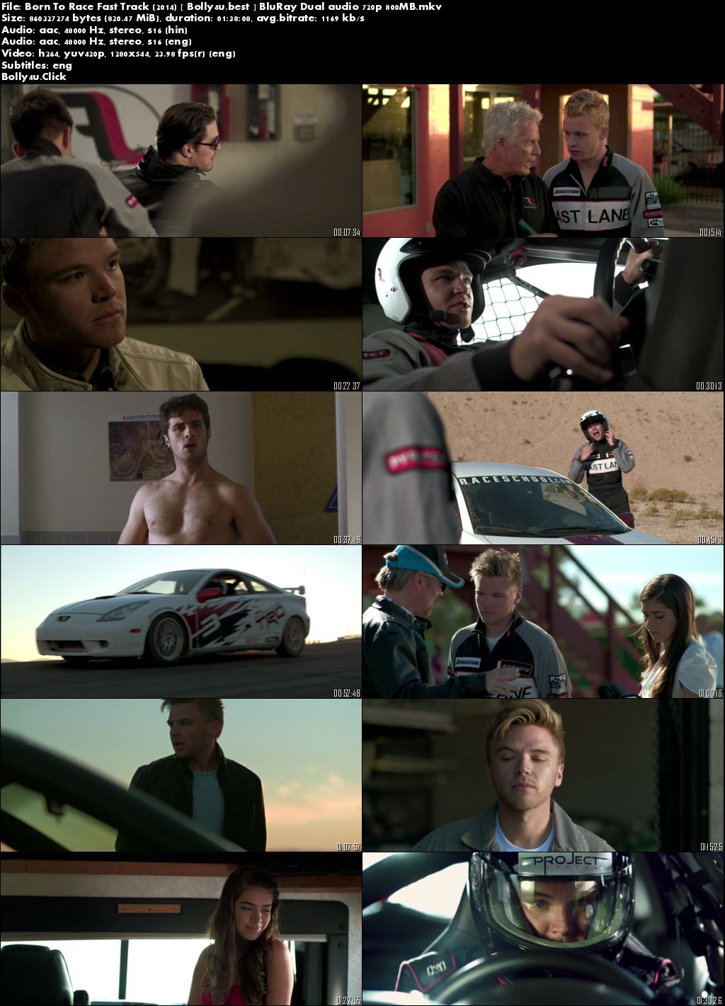 Born To Race Fast Track 2014 BluRay 800Mb Hindi Dual Audio 720p Download