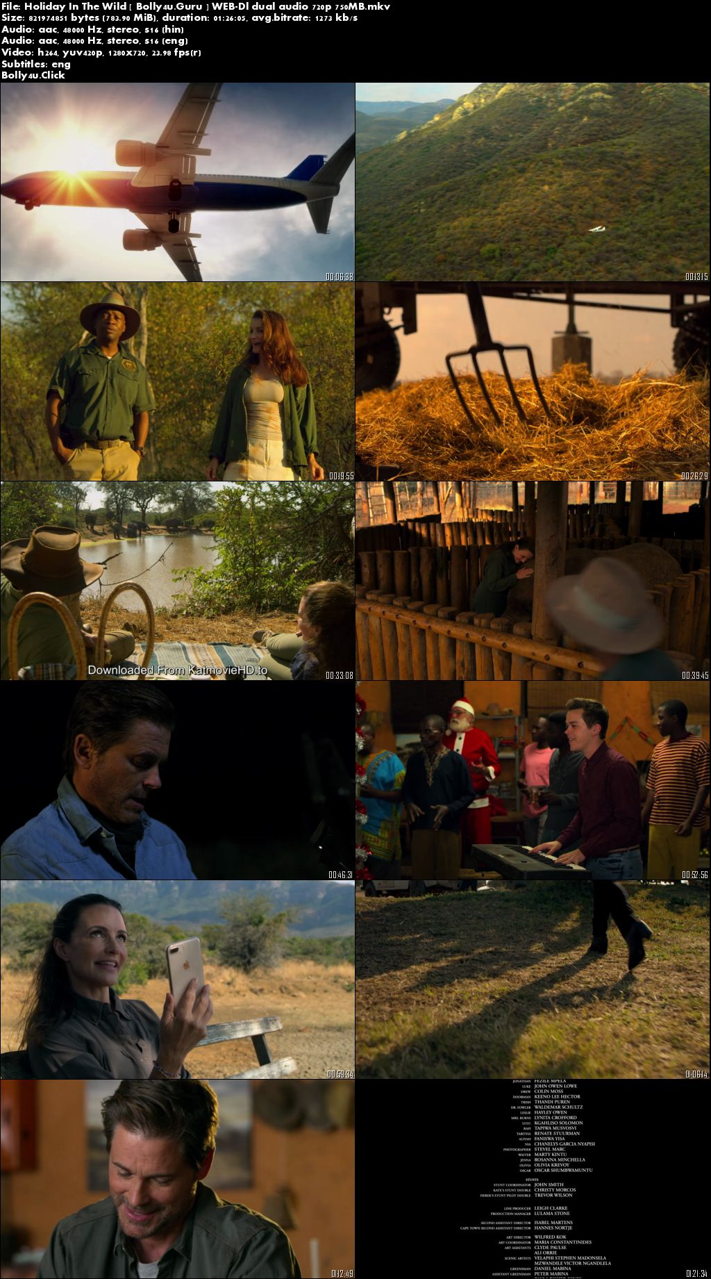 Holiday In The Wild 2019 WEB-DL 300Mb Hindi Dual Audio 480p Download
